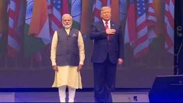President Trump, prime minister of India visit Houston for 'Howdy, Modi!' event at NRG