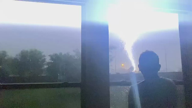 Lightning, hail and more: Your videos from Tuesday's storms