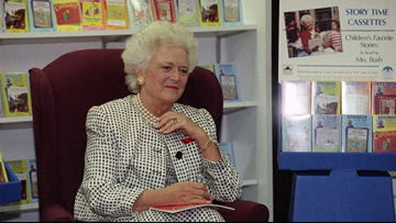 Barbara Bush, in a forthcoming book, blames Trump for her 'heart attack'