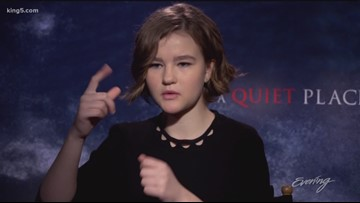"Deaf actress delivers powerful performance in horror movie ""A Quiet Place"" - KING 5 Evening"