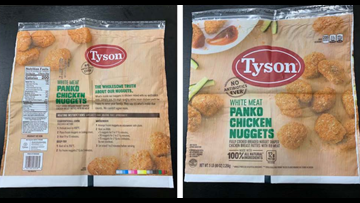 Tyson chicken nuggets recalled due to possible rubber contamination