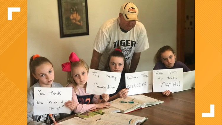 'You think you have it rough?' | Kids quarantined with dad who is also their principal