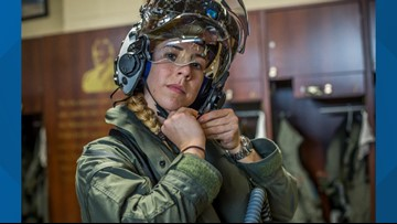 Boise State alumna becomes first female F-35B pilot