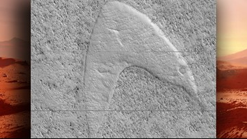 Check out this Mars sand formation right out of 'Star Trek'