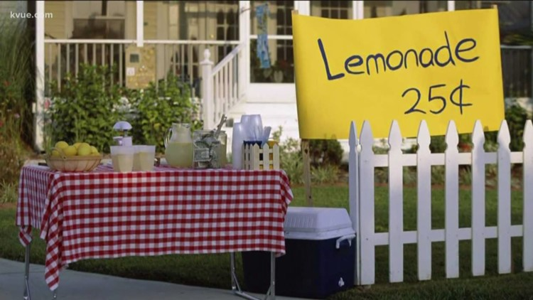 Texas governor holds ceremonial signing of bill that lets children legally sell lemonade at stands