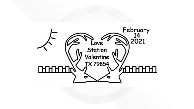 Here's how you can get a special Valentine's Day postmark for your special someone