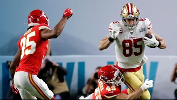 49ers' George Kittle flagged for controversial pass interference call in Super Bowl