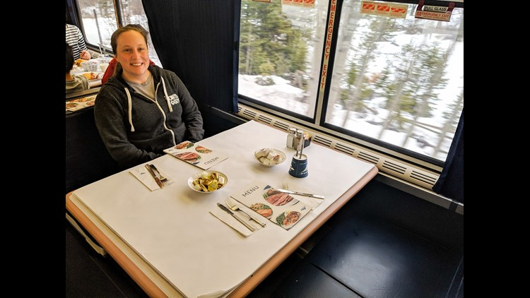 No one joined us for this meal, but the dining car is a great place to chat with other travelers. (Photo by JT Genter / The Points Guy)