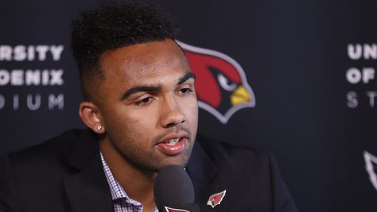 WR Christian Kirk was drafted by the Cardinals in the second round of the 2018 NFL draft. He played high school football at Scottsdale Saguaro High. (Photo: Patrick Breen/azcentral sports)