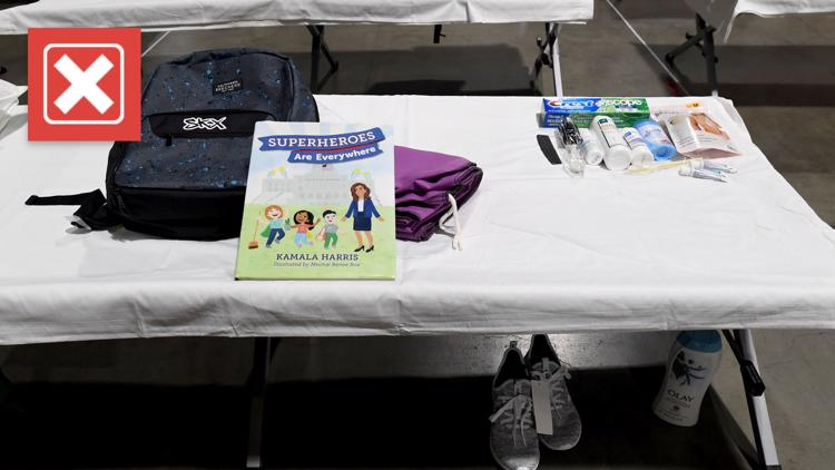 No, HHS officials aren't handing out Kamala Harris' book to migrant kids at a California facility