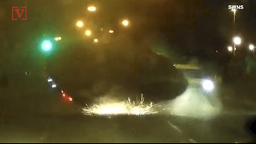 Watch Terrifying Footage of Car Crash Flipping in 90mph Police Chase