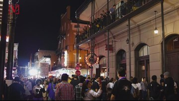 Man Wearing 'Cocaine' Shirt And Hat, Spray-painted The Word All Over Bourbon Street