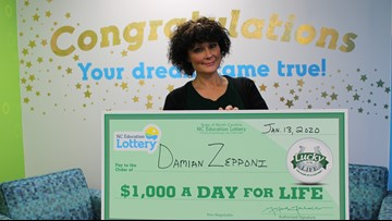 Winston-Salem woman wins $1,000 a day for life, plans to start ministry to help others