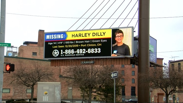 Harley Dilly billboard on Lafayette and the Anthony Wayne Trail in downtown Toledo