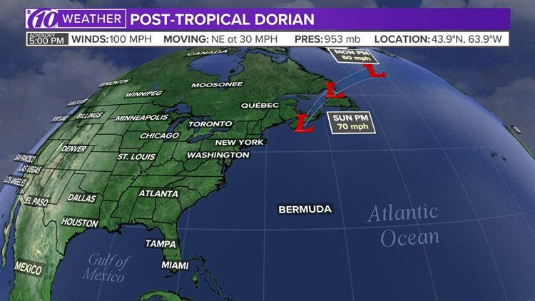 Live blog: Dorian makes landfall in Canada