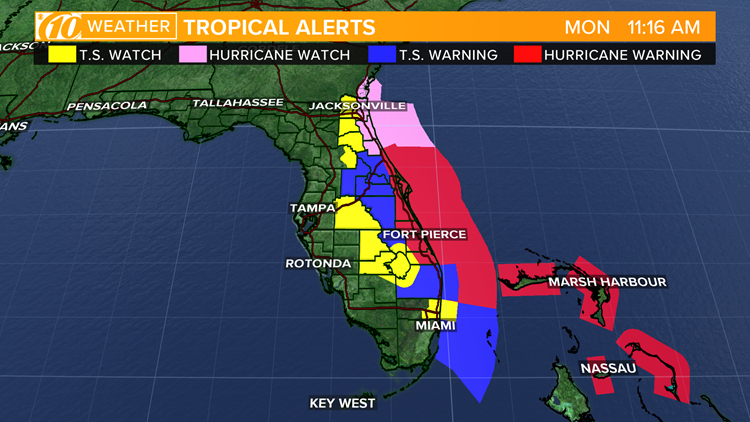 watches and warnings florida ahead of hurricane dorian 090219