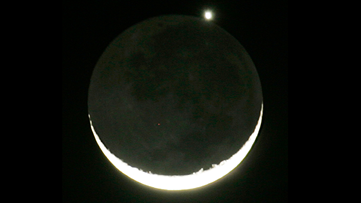 Moon, Mars and Earth to align before dawn on Tuesday
